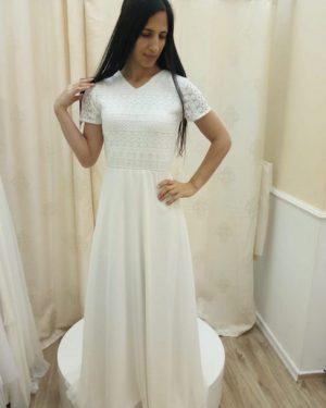 שמלה לבנה לחתונה ברבנות