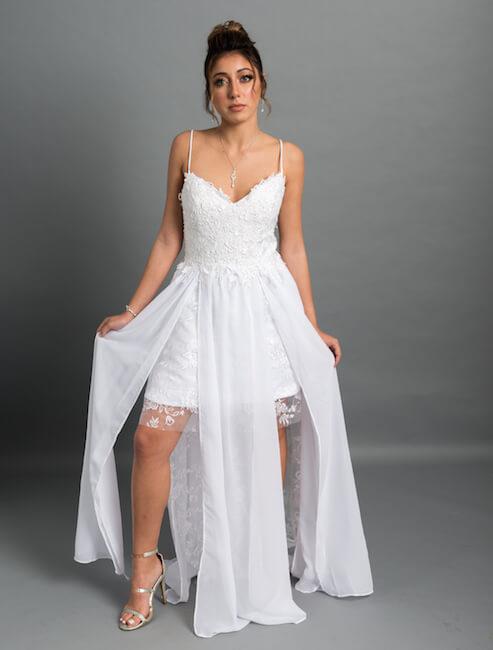 שמלת כלה להחלפה לריקודים