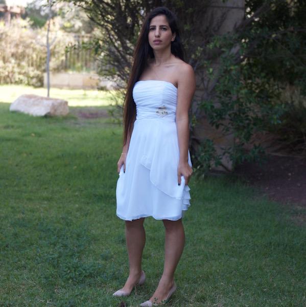 שמלה קצרה לכלה