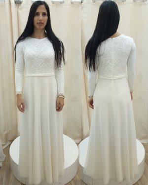 שמלות לבנות צנועות