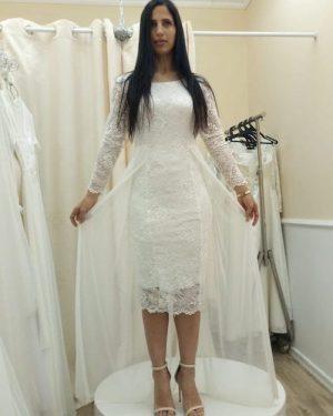 שמלה לבנה קצרה